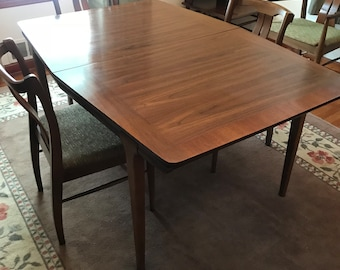 Dining Table Vintage Mid Century Modern Walnut 1960