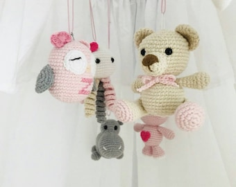 Baby Mobile Animals Etsy