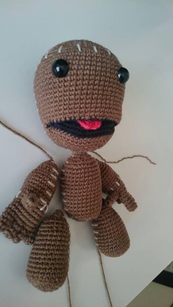 Kostenloser Versand häkeln Sackboy Spielzeug Amigurumi | Etsy
