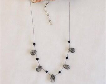 Rutilated Quartz Necklace #16
