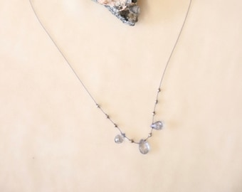 Iolite & Pyrite  Necklace #27