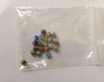 menge von 20 perlen millefiori perlen aus murano glas perle venedig perle italienisch perlen fr schmuck webmuster - Perlen Weben Muster