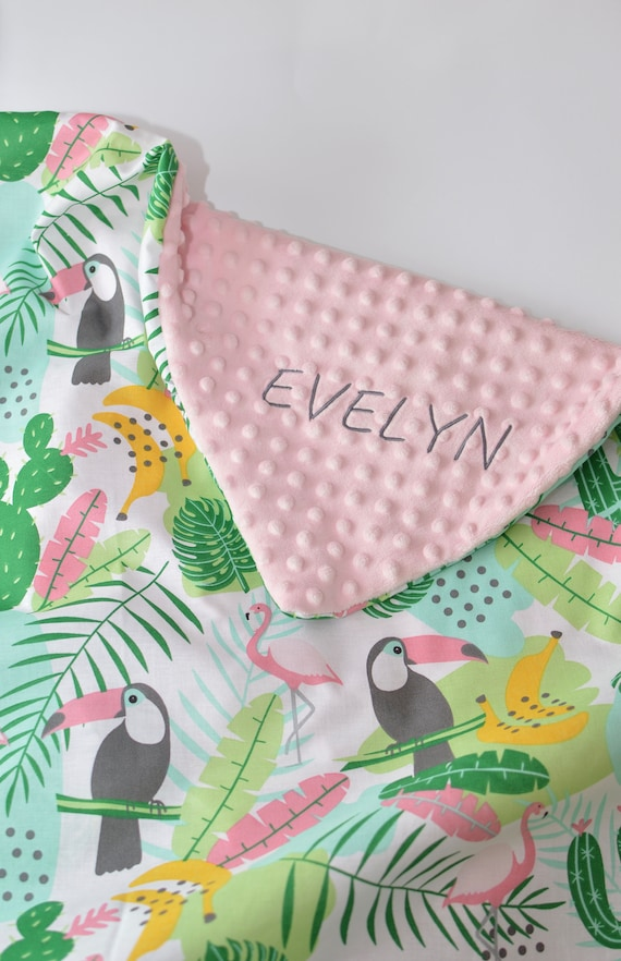 Personalised Baby Blanket Gift for baby girl Gift for a baby New Baby Handmade