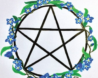 Forget-Me-Nots Pentacle (5x7)
