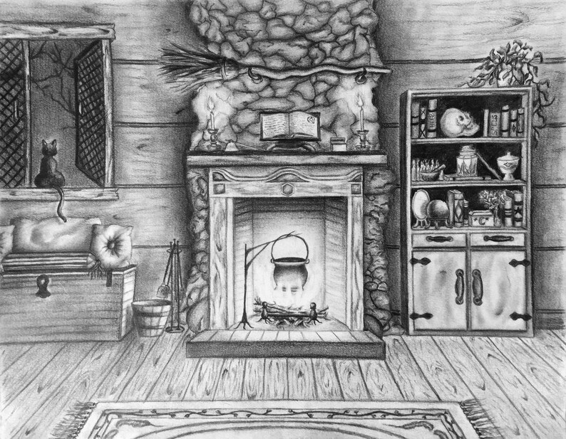 Witch Cottage No. 1 Drawing image 0