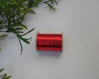 6 mm satin ribbon red 10 m Roll