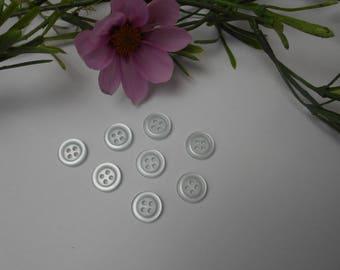 10 blue sky buttons 10 mm