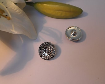 Button pressure 18mm for jewelry - silver sparkly