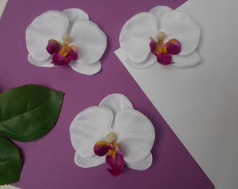 Artificial white Orchid 6.50 cm