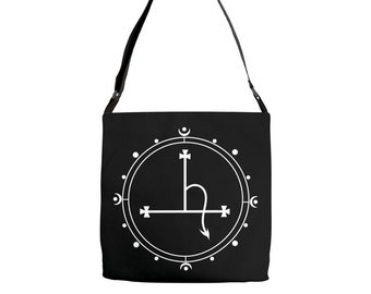 Lilith occult style witchy tote bag