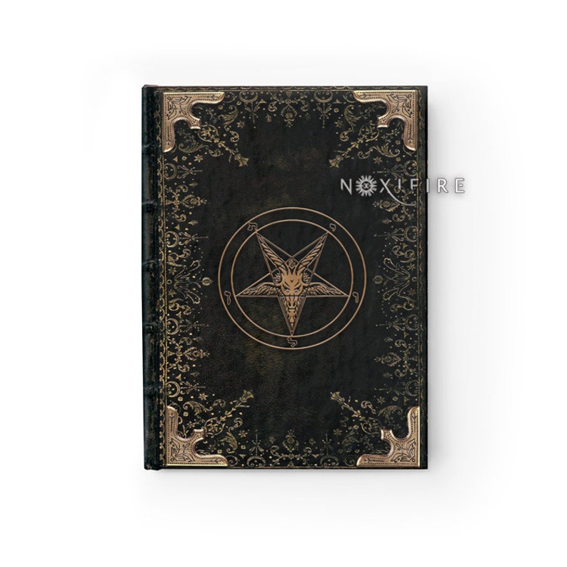 Book of Shadows | Deluxe Occult Grimoire with blank pages | Pentagram  Satanic Baphomet journal | Gothic Witchy Pagan Dream Notebook