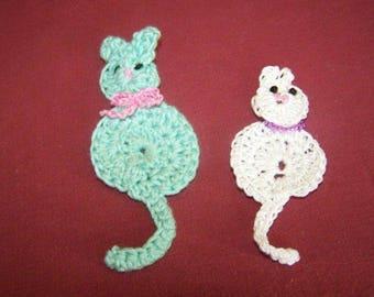 Cat crochet for scrapbooking
