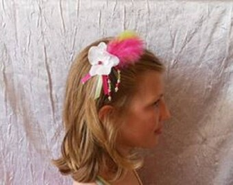 White Orchid clip or hair stick