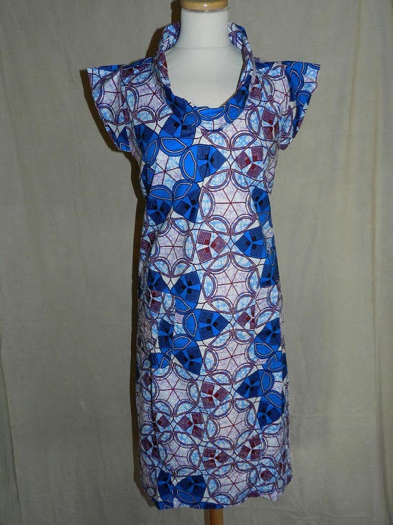 dress blue to for 36 42 size thin cotton Draped Emerald and round U0xqqdv