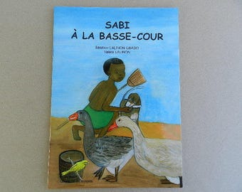 "Short African book, tales, low, ""Farmyard Sabi"" child from 6 months"