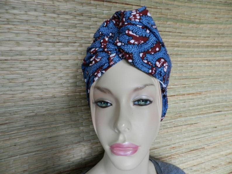 277167bca Foulard de tête gris et rouge, en Wax tissu Africain, Paréo jupe en pagne,  Style Boho Ethnique, Attache Cheveux; Echarpe coton