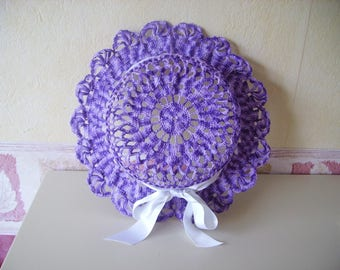 Purple crocheted Hat