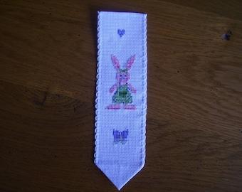 Pink Bunny bookmark