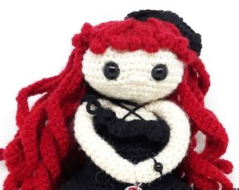 Amigurumi Goth Doll