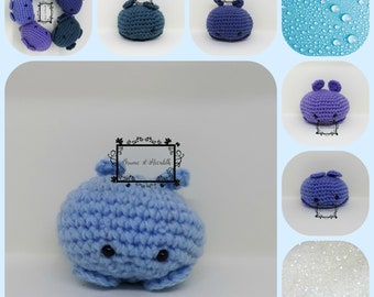 Amigurumi blue ball