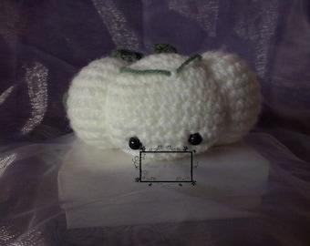 Small white pumpkin Amigurumi