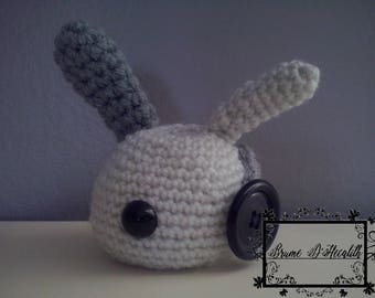 Amigurumi Bunny grey and white