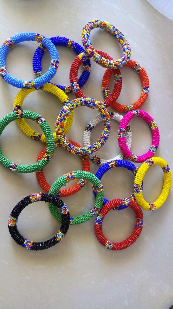 Afrikanische Perlen Maasai Armreifen Afrikanischer Schmuck | Etsy
