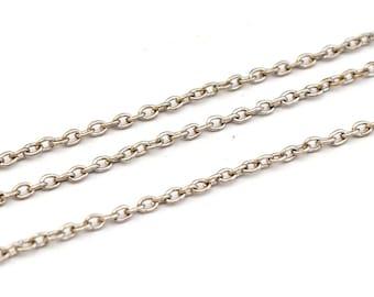 Silver mesh chain 3 x 2 mm