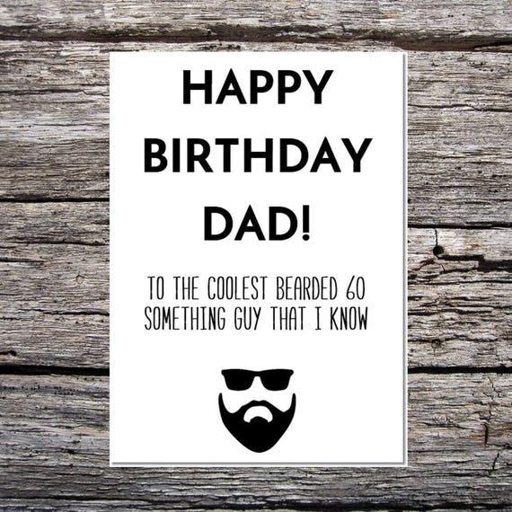 Dad Birthday Card Cool Man With Beard
