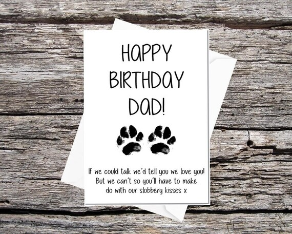 Card From The Dogs Dad Birthday Funny Pet