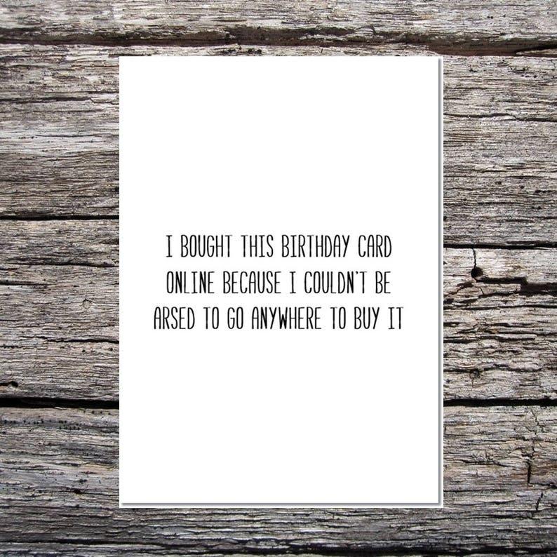 Rude Birthday Card Cheeky Lazy
