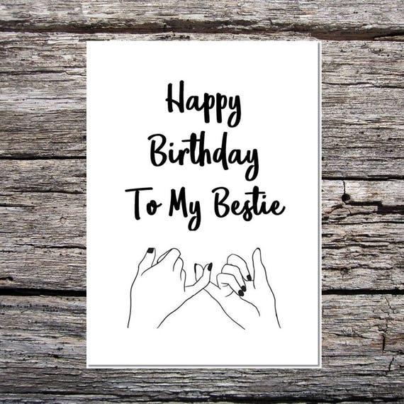 Best Friend Birthday Card Bestie