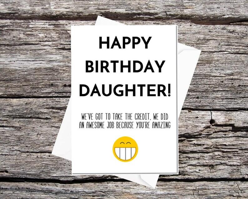 Daughter Birthday Card Funny