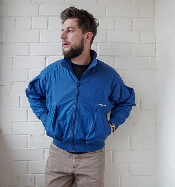 Vintage 90s Adidas Jacket Blue Color