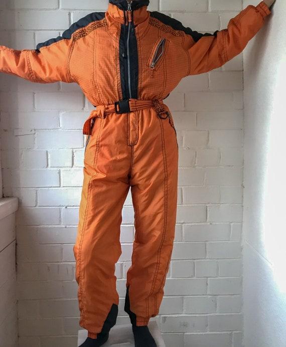 Vintage Ski Wear | Orange Ski Suit | Snowboarding