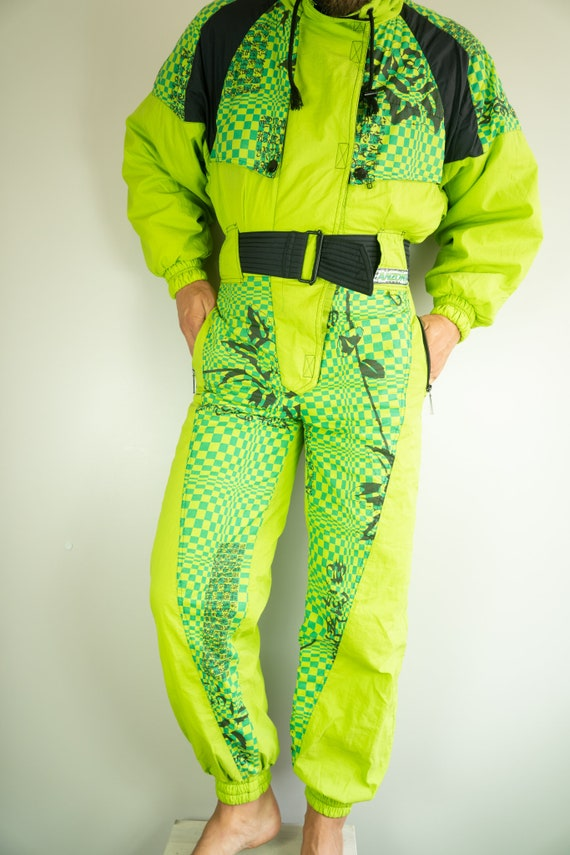 Vintage ANZONI Ski Suit   Multi color Ski Suit   S