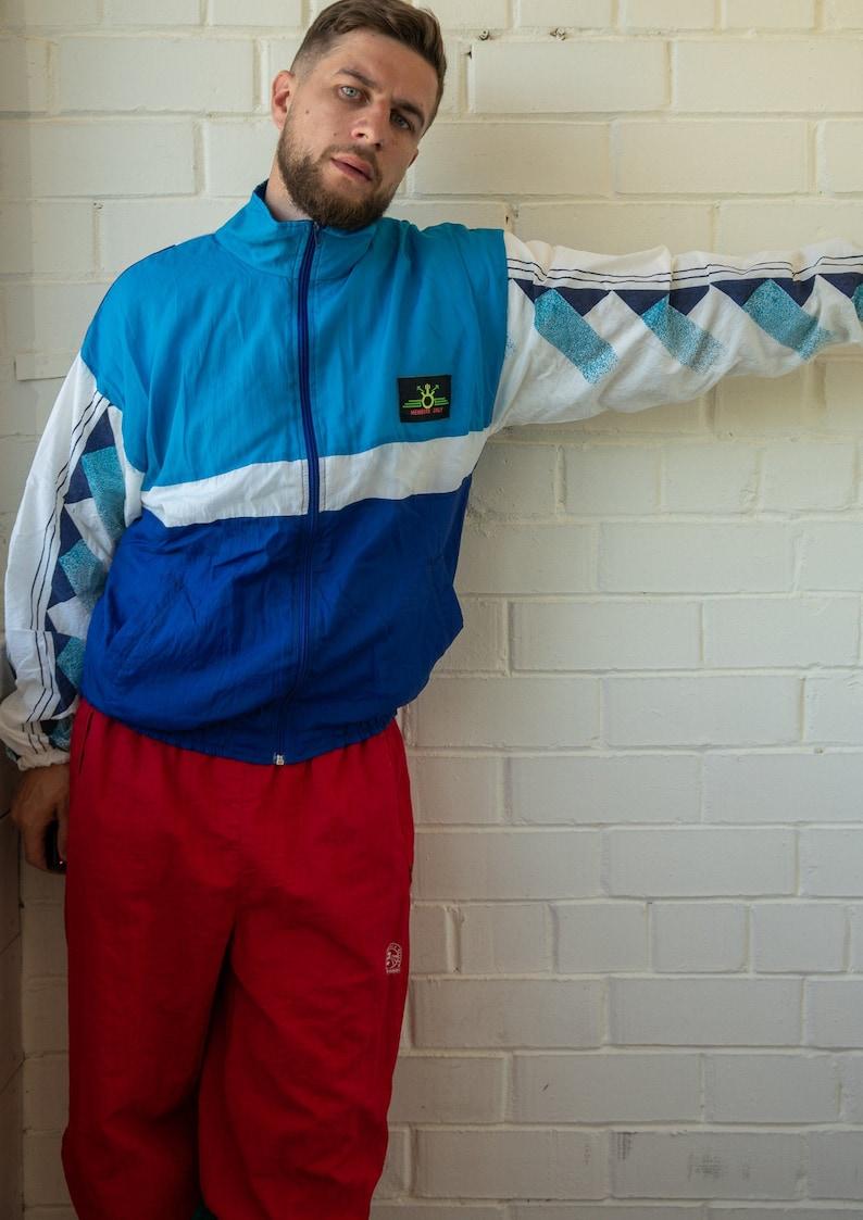 Vintage Track Top Vintage Track Jacket Vintage Tracksuit Multicolor Track Jacket Old School Tracksuit