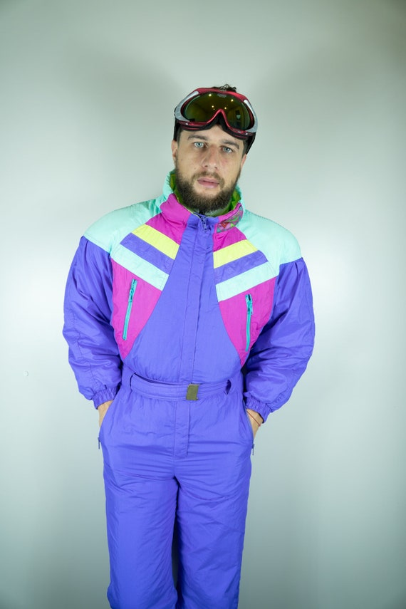 Vintage RODEO Ski Suit Multi color Ski Suit Snowbo