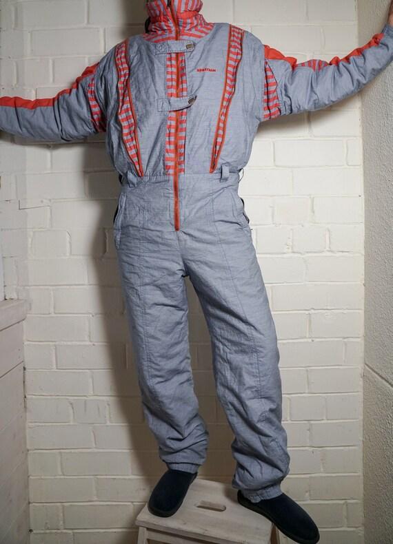 Vintage Ski Suit | Multi Color Ski Suit | Snowboar