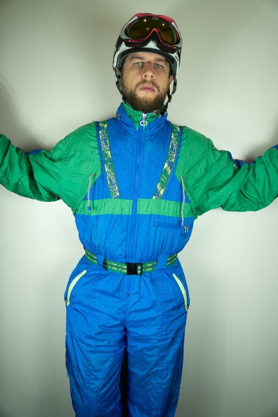 Vintage NORDIC Ski Suit Multi color Ski Suit Snowb