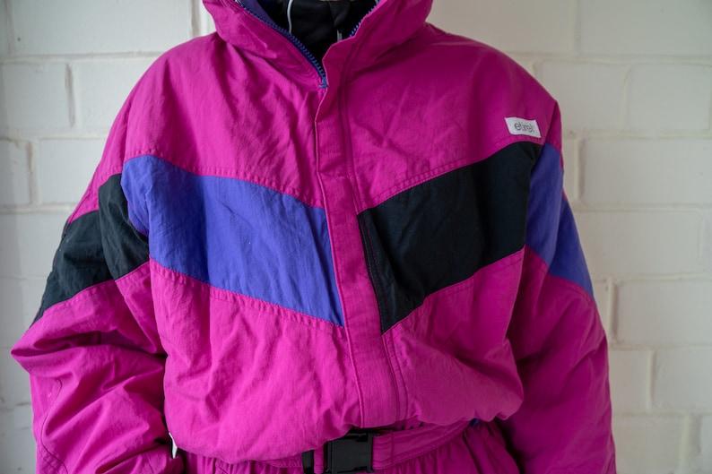 Vintage Ski Overall| Winter Skiing Suit One Piece Ski Suit Vintage ETIREL Ski Suit Snowboarding Suit Multi color Ski Suit