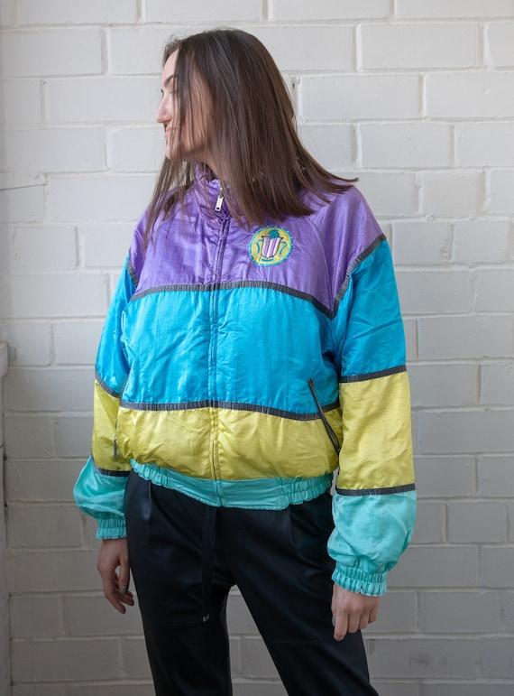 Old School Tracksuit Vintage Track Top Multicolor Track Jacket Vintage Tracksuit Vintage Track Jacket