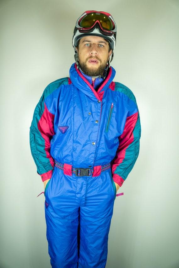 Vintage DEGRE7 Ski Suit Multi color Ski Suit Snowb