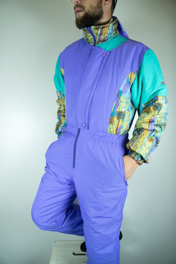 Vintage MARILENA Ski Suit Multi color Ski Suit Sno