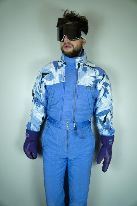 Vintage ELLESSE Ski Suit   Multi color Ski Suit  