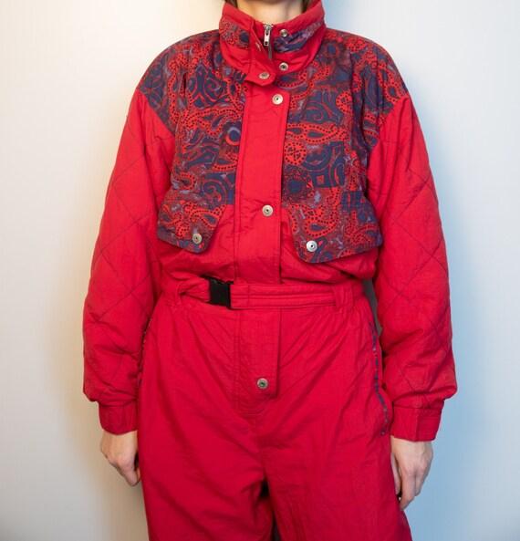 Vintage RED Ski Suit | Multi Color Ski Suit | Snow