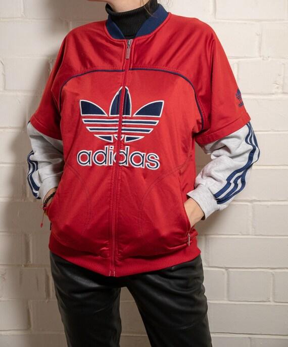 Veste de jogging Adidas vintages | Multi couleur veste Adidas | Veste de jogging Adidas | Vintage Track Top | Gros Logo