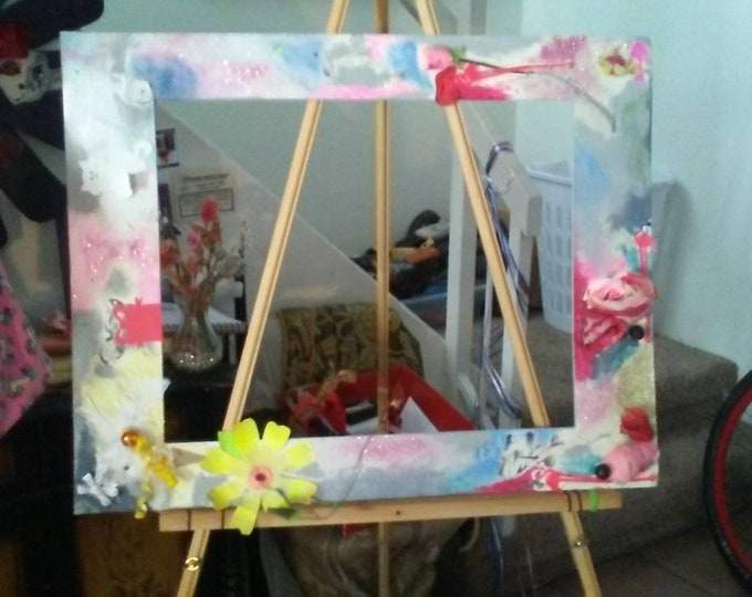 Giant lightweight but sturdy floral decorated Instagram prop for photos and events