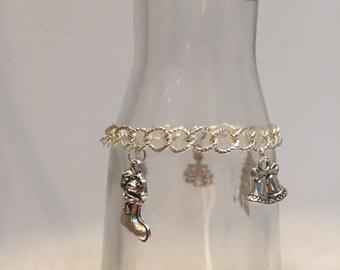 Silver-tone charm bracelet jewelry