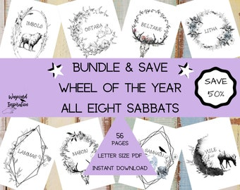 Sabbat Bundle | Wheel of the Year Pages | Book of Shadows | Printable BOS | Grimoire Pages